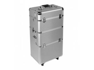 Kosmetický kufřík hliníkový - velký - stříbrný